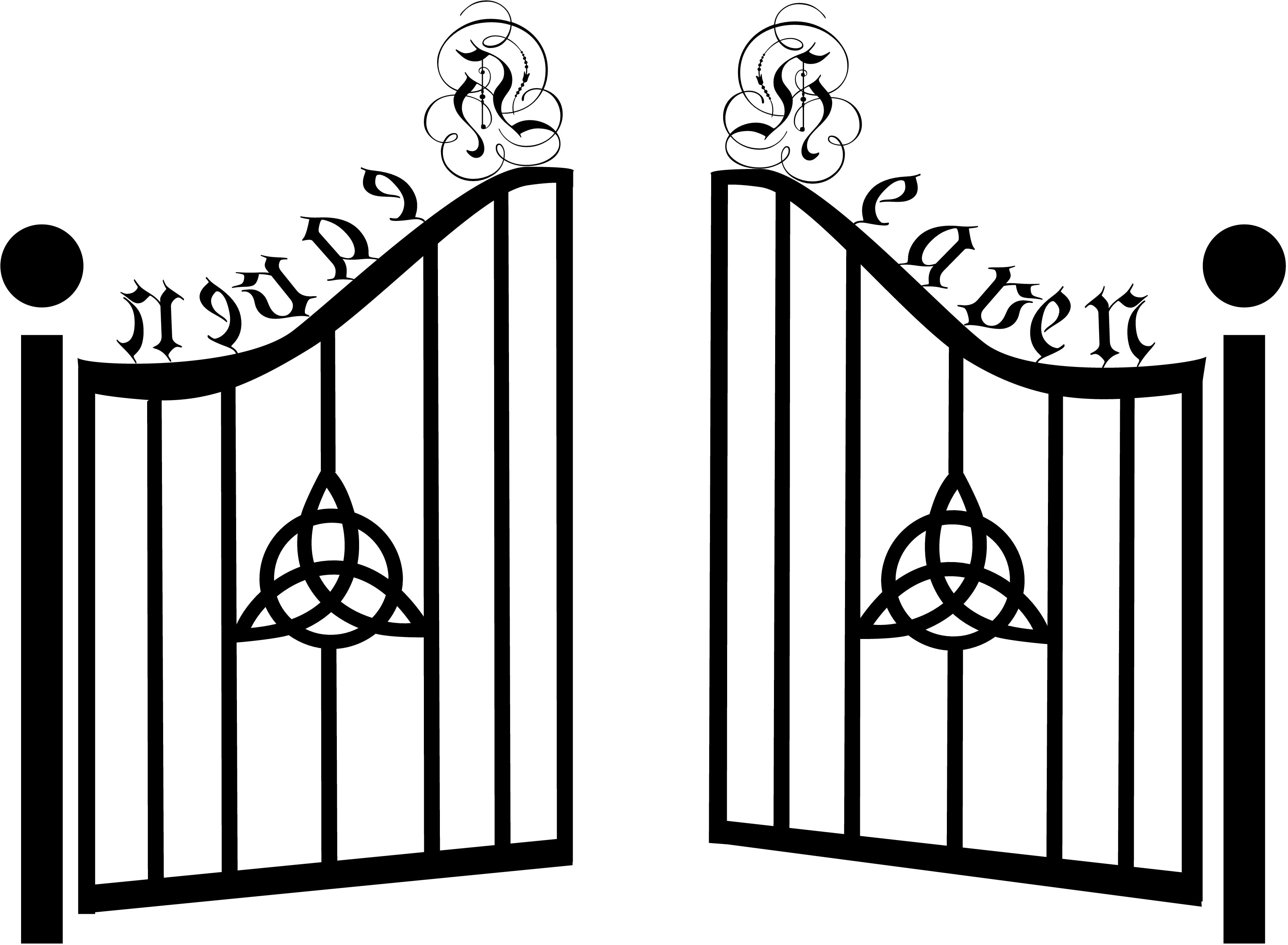 Black & white gate clipart png royalty free stock Clipart black and white gate 2 » Clipart Portal png royalty free stock