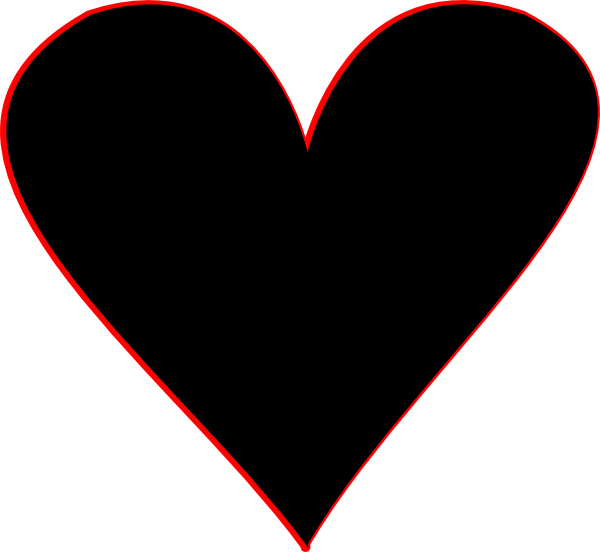 Black & white heart clipart jpg free stock Black Heart Clipart #71643 jpg free stock