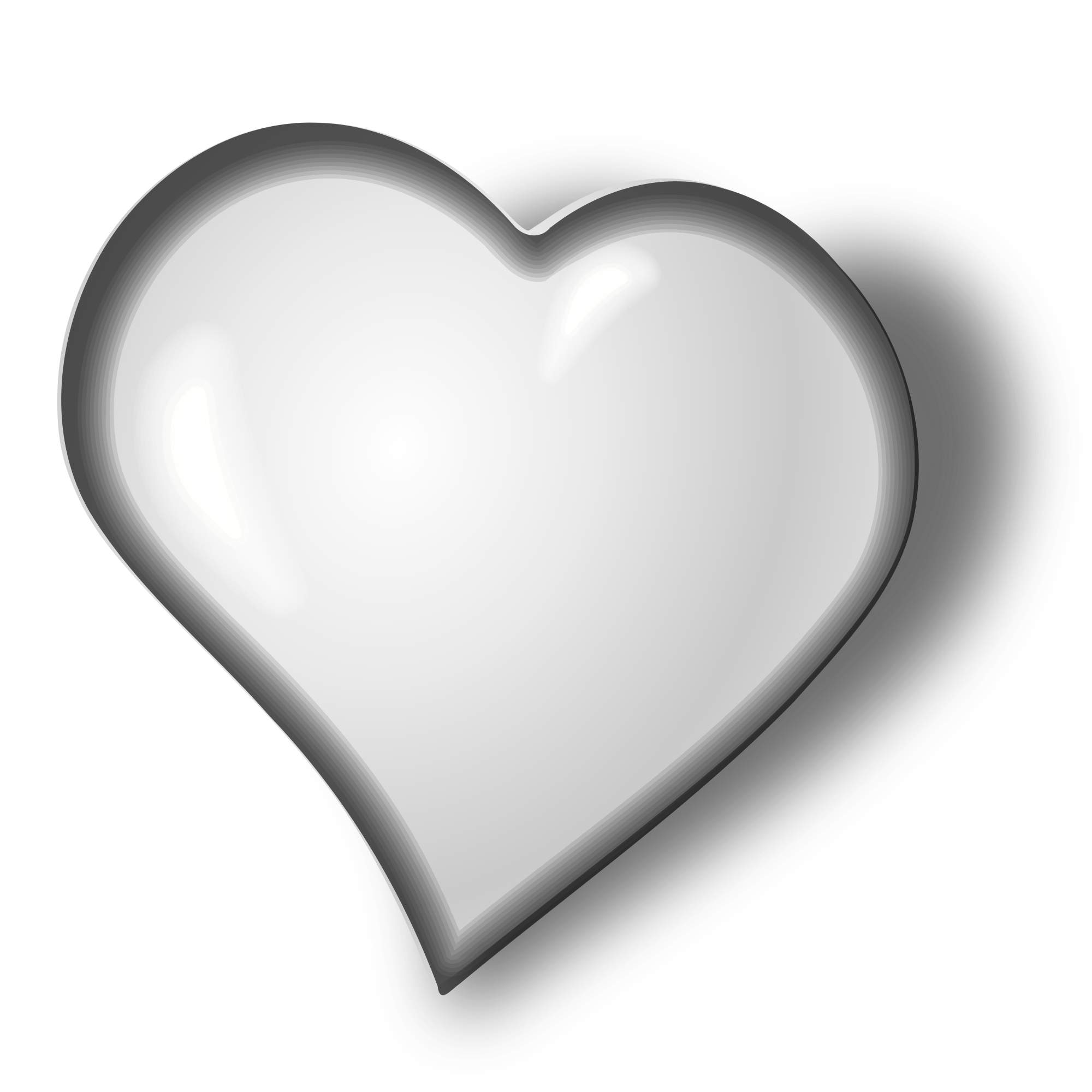 Black & white heart clipart graphic free stock File:White heart.svg - Wikimedia Commons graphic free stock
