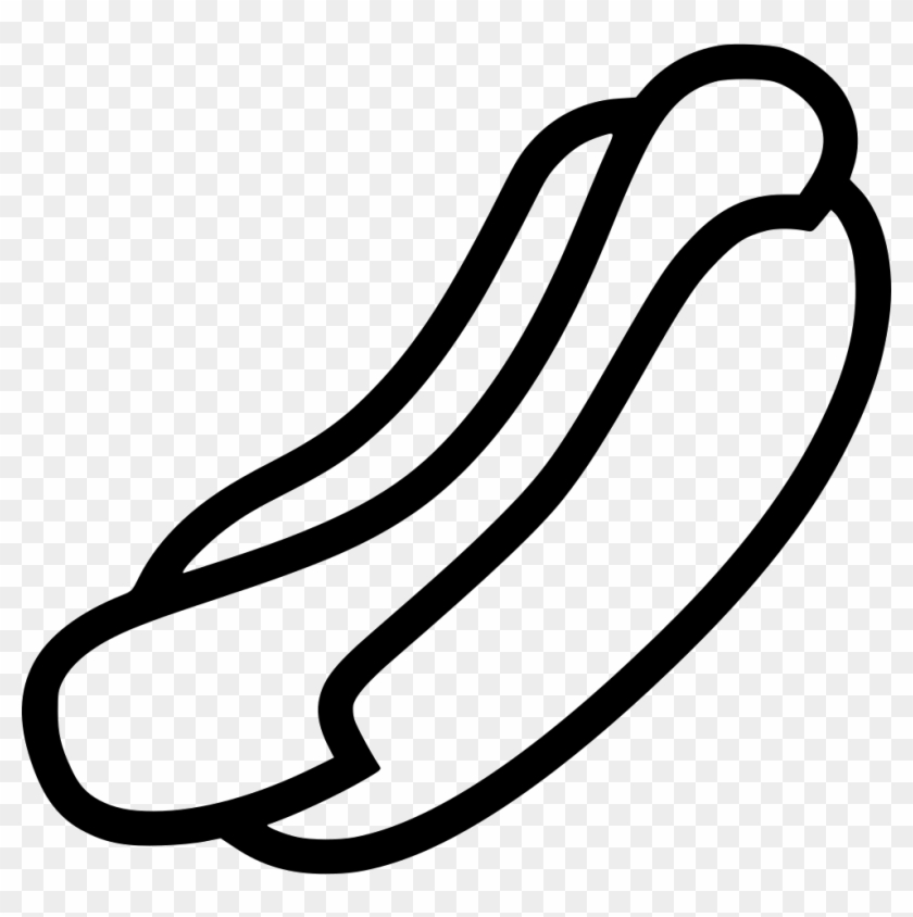 Black & white hot dog clipart png image library download Hot Dog Comments - Black And White Hotdog, HD Png Download - 980x938 ... image library download