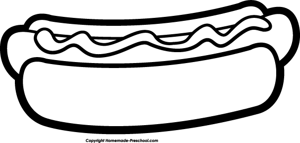 Black & white hot dog clipart png picture library download Hot dog clipart black and white » Clipart Portal picture library download