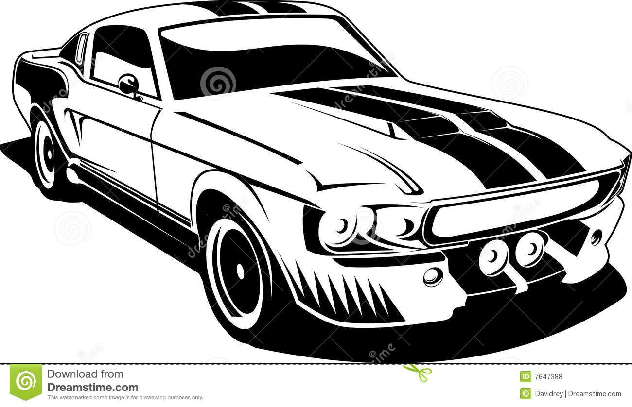 Ford mustang clipart black and white picture stock Mustang Car Clipart | Clipart Panda - Free Clipart Images | seasonal ... picture stock