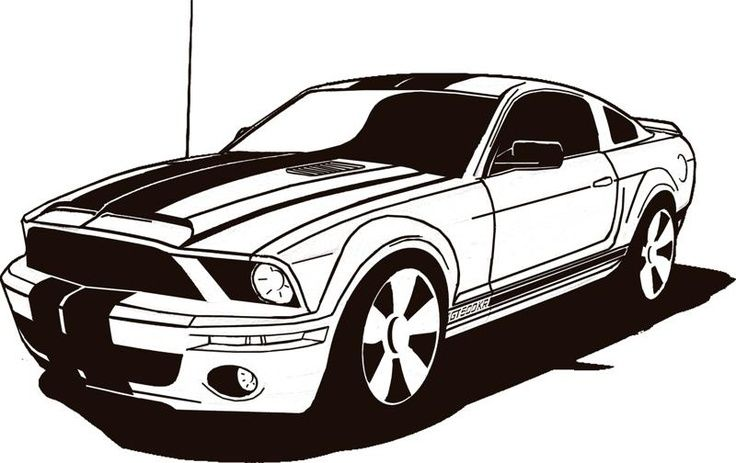 Black and white fast mastang car clipart banner download Ford Mustang Clip Art Cliparts | Автомобили | Car drawings, Mustang ... banner download
