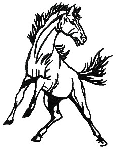 Black & white mustang clipart clip black and white stock Mustang clipart black and white 7 » Clipart Portal clip black and white stock
