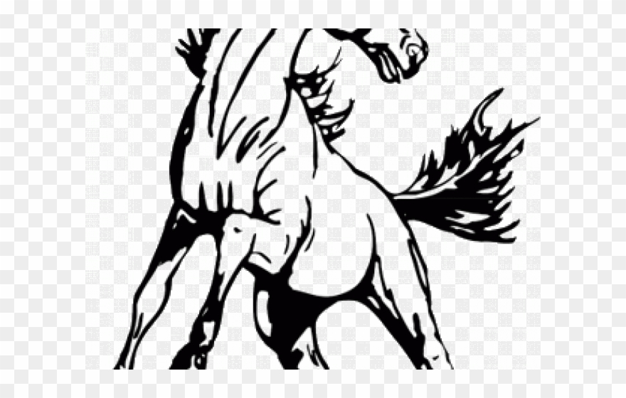 Black & white mustang clipart vector stock Mustang Clipart Mckinley - Mustang Clipart Black And White - Png ... vector stock