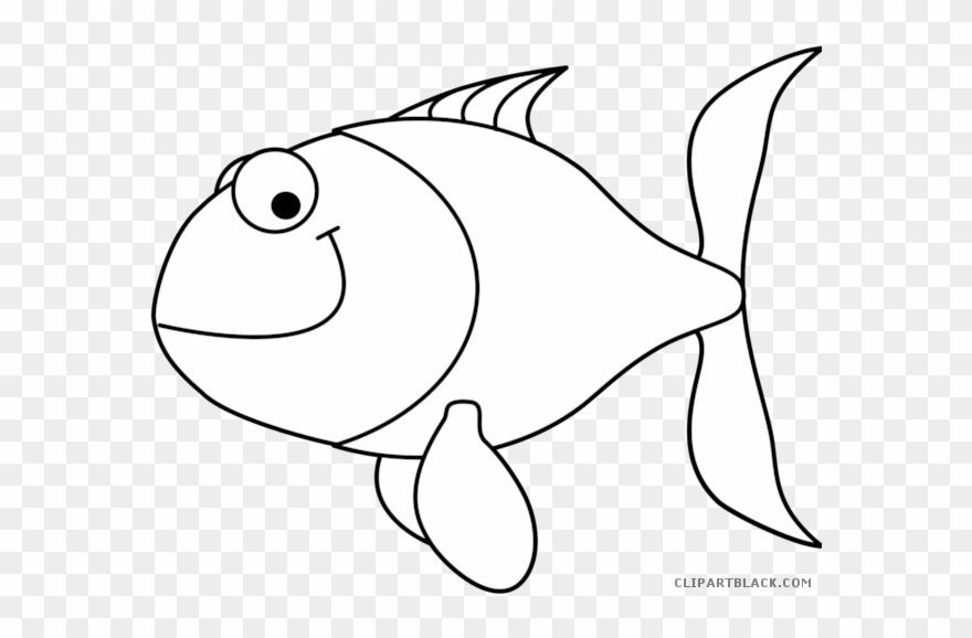 Black white outline clipart banner black and white Png Transparent Download Fish Outline Clipart Clipartblack - Clip ... banner black and white