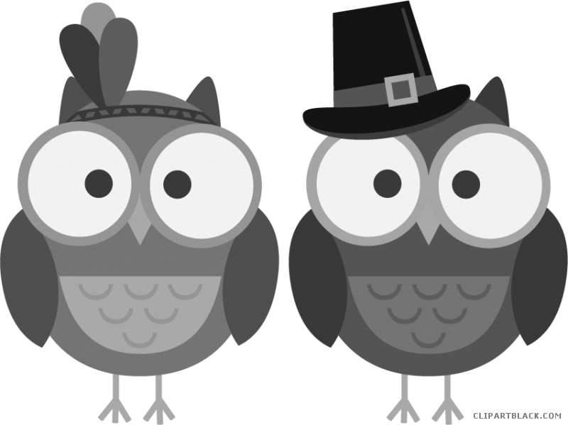 Black & white thanksgiving clipart vector freeuse Thanksgiving Owl Clipart - ClipartBlack.com vector freeuse
