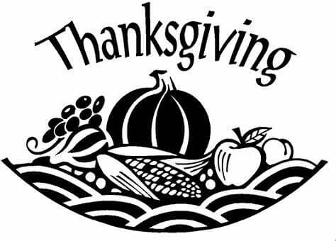 Thanksgiving clipart black picture library stock Free Thanksgiving Clipart Black And White - Clipart Junction picture library stock
