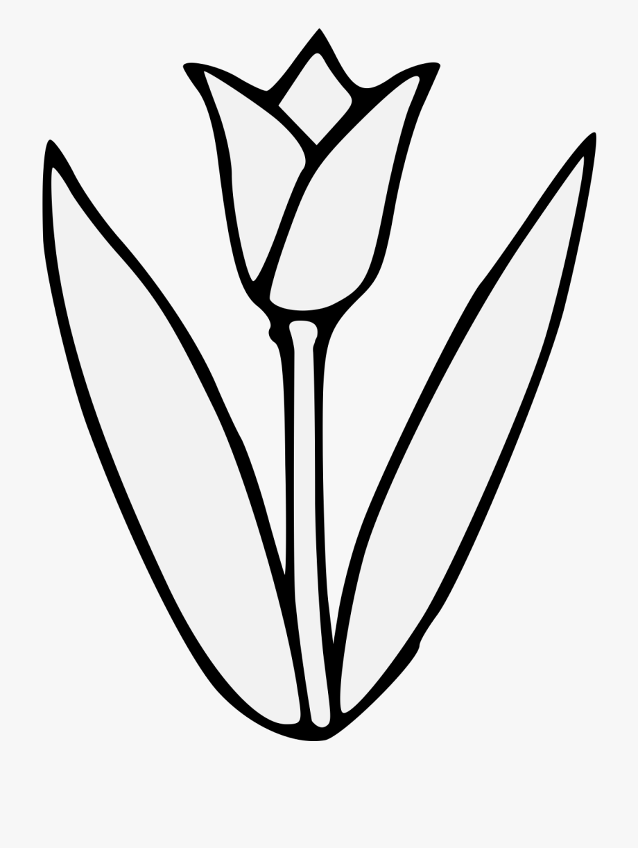Tulips black and white clipart png download Thumb Image - Tulip Black And White Flower Clipart #48666 - Free ... png download