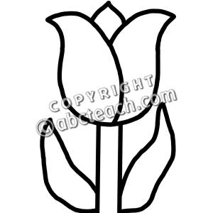 Tulips black and white clipart picture free library Tulip Clip Art Black And White | Clipart Panda - Free Clipart Images picture free library