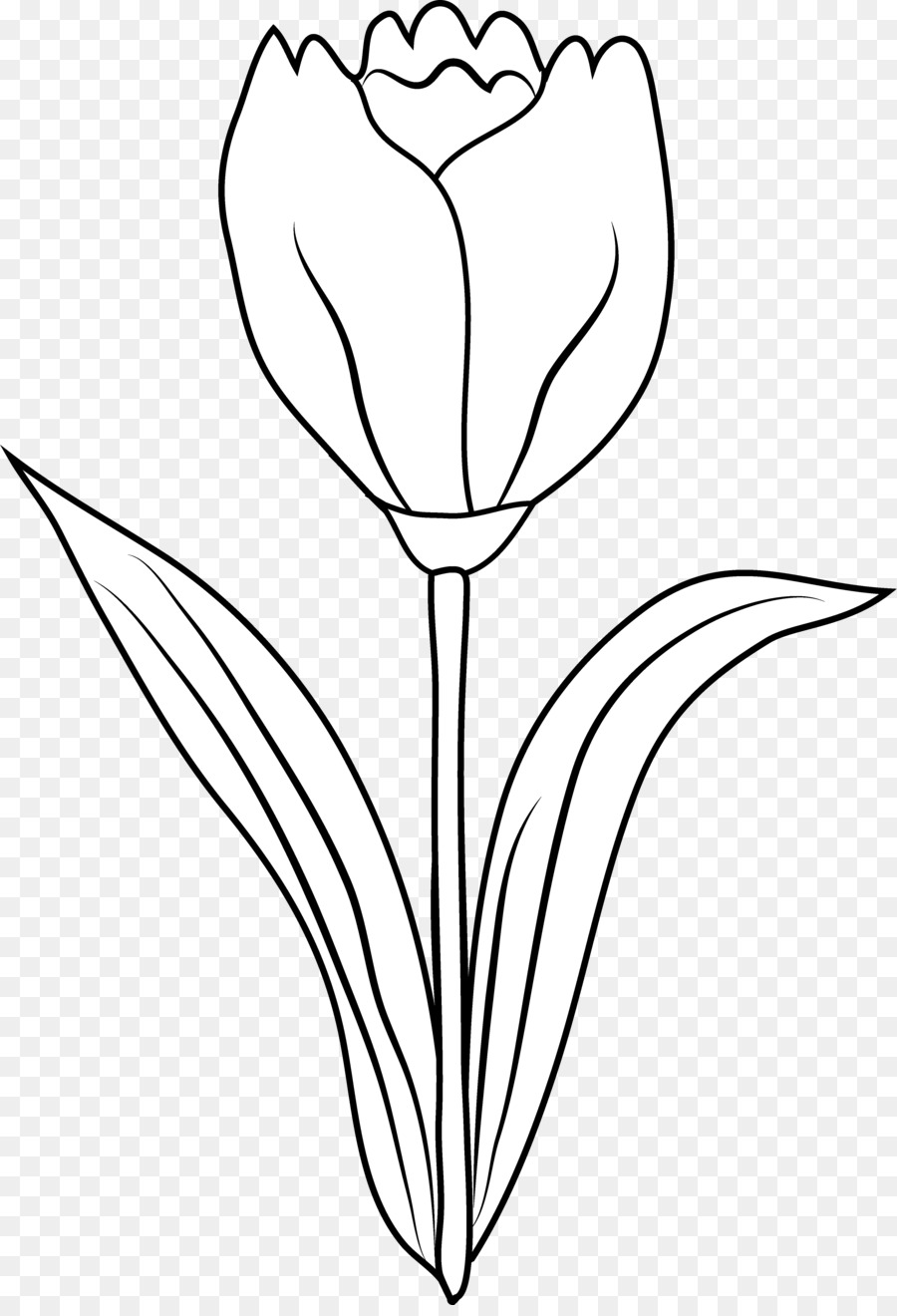 Drawing of tulips clipart picture black and white stock Tulip clipart black and white 4 » Clipart Station picture black and white stock