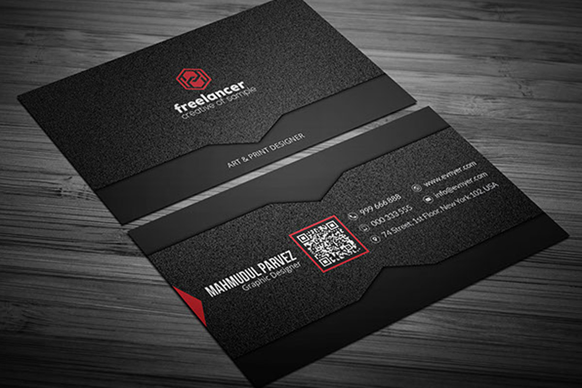 Black white wide stripe business card clipart downloads image transparent 200 Free Business Cards PSD Templates - Creativetacos image transparent