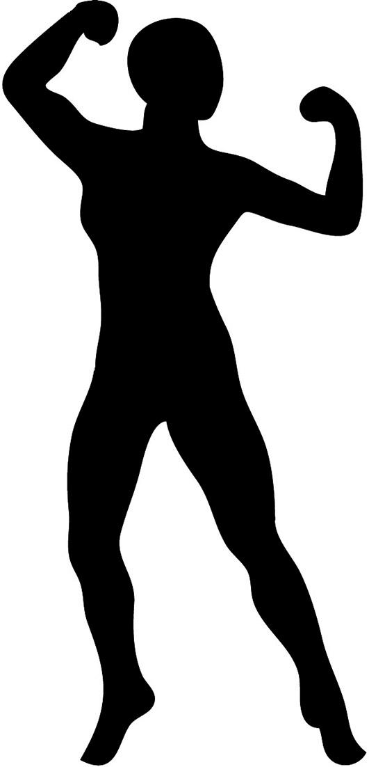 Body silhousette clipart vector free stock Body Silhouettes vector free stock