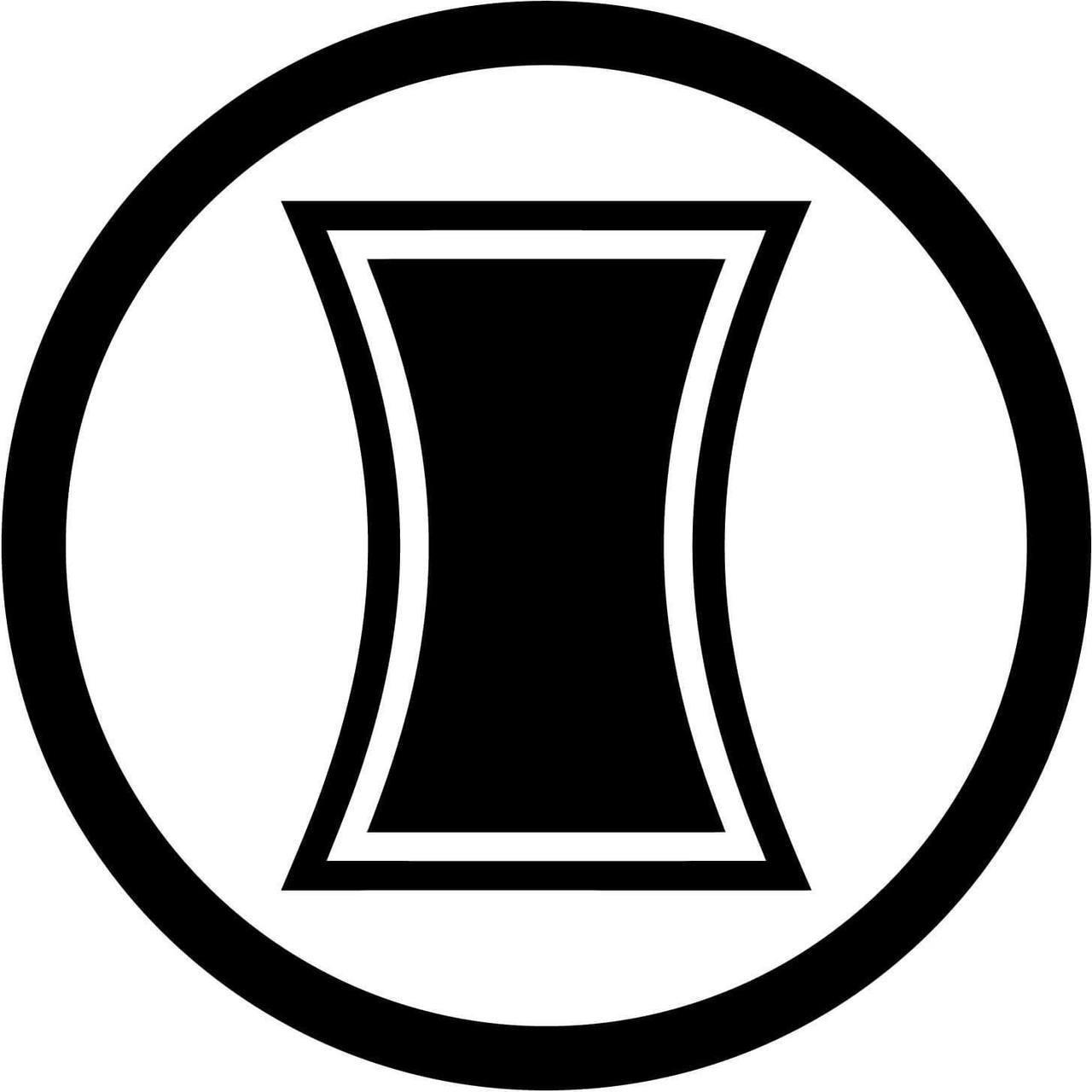 Black widow symbol clipart image royalty free stock Marvel Comics Avengers Black Widow Symbol image royalty free stock