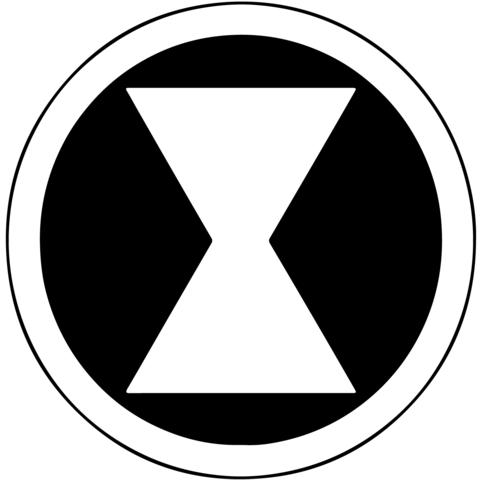 Black widow symbol clipart vector download Marvel - Black Widow Symbol Vinyl Decal | Marvel | Black widow ... vector download