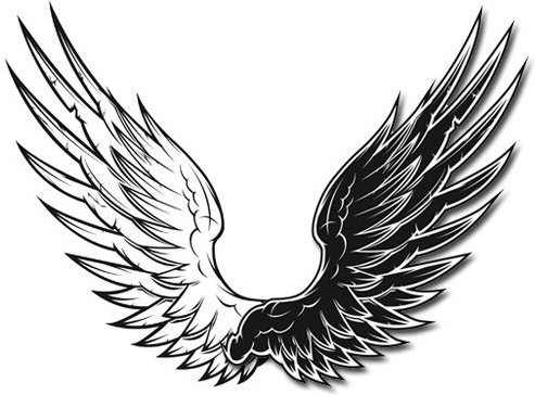 Black wings clipart png free stock Black and white vector wings black and white vector wings Free ... png free stock