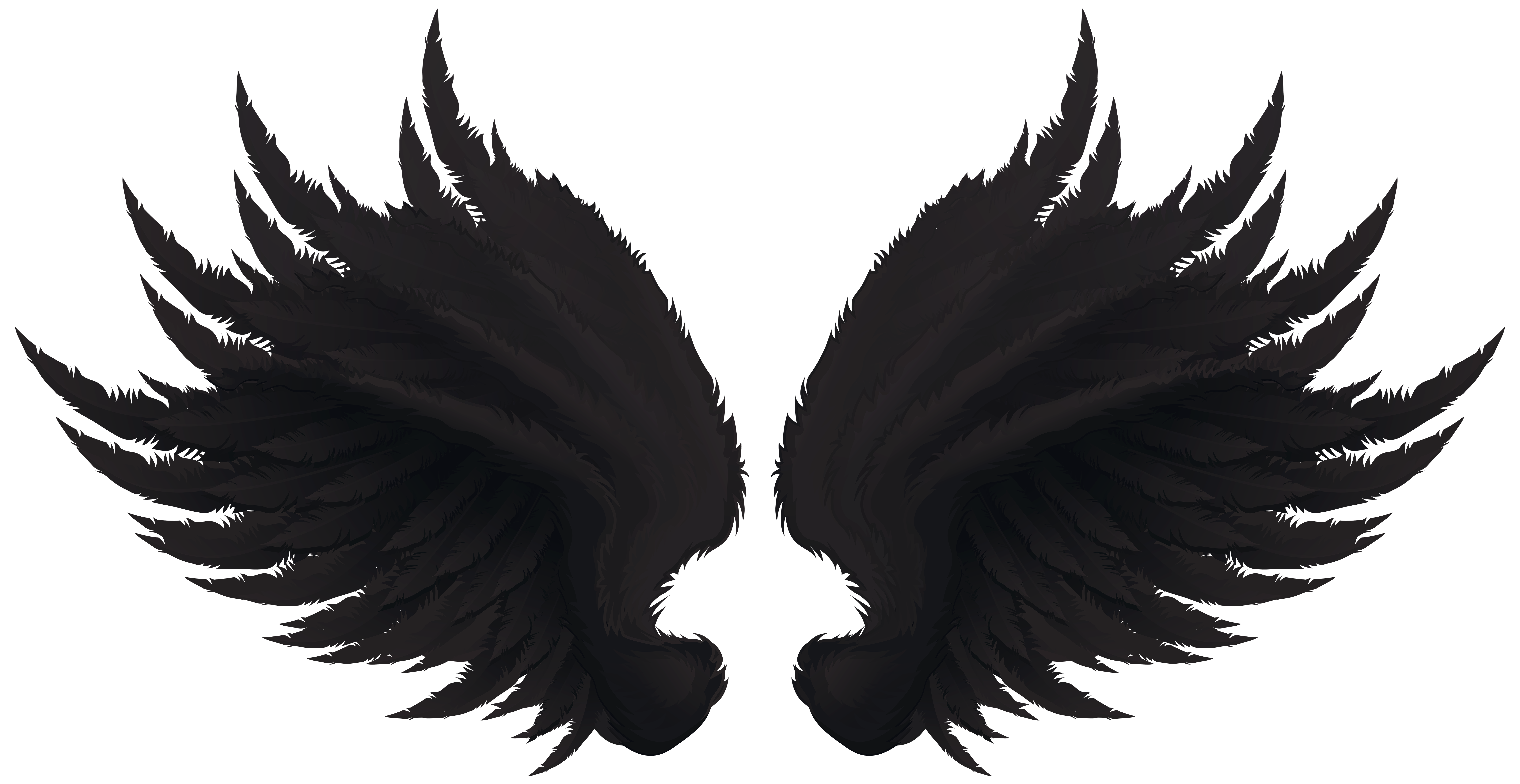 Black wings clipart black and white library Black Wings Transparent Clip Art Image | Gallery Yopriceville ... black and white library