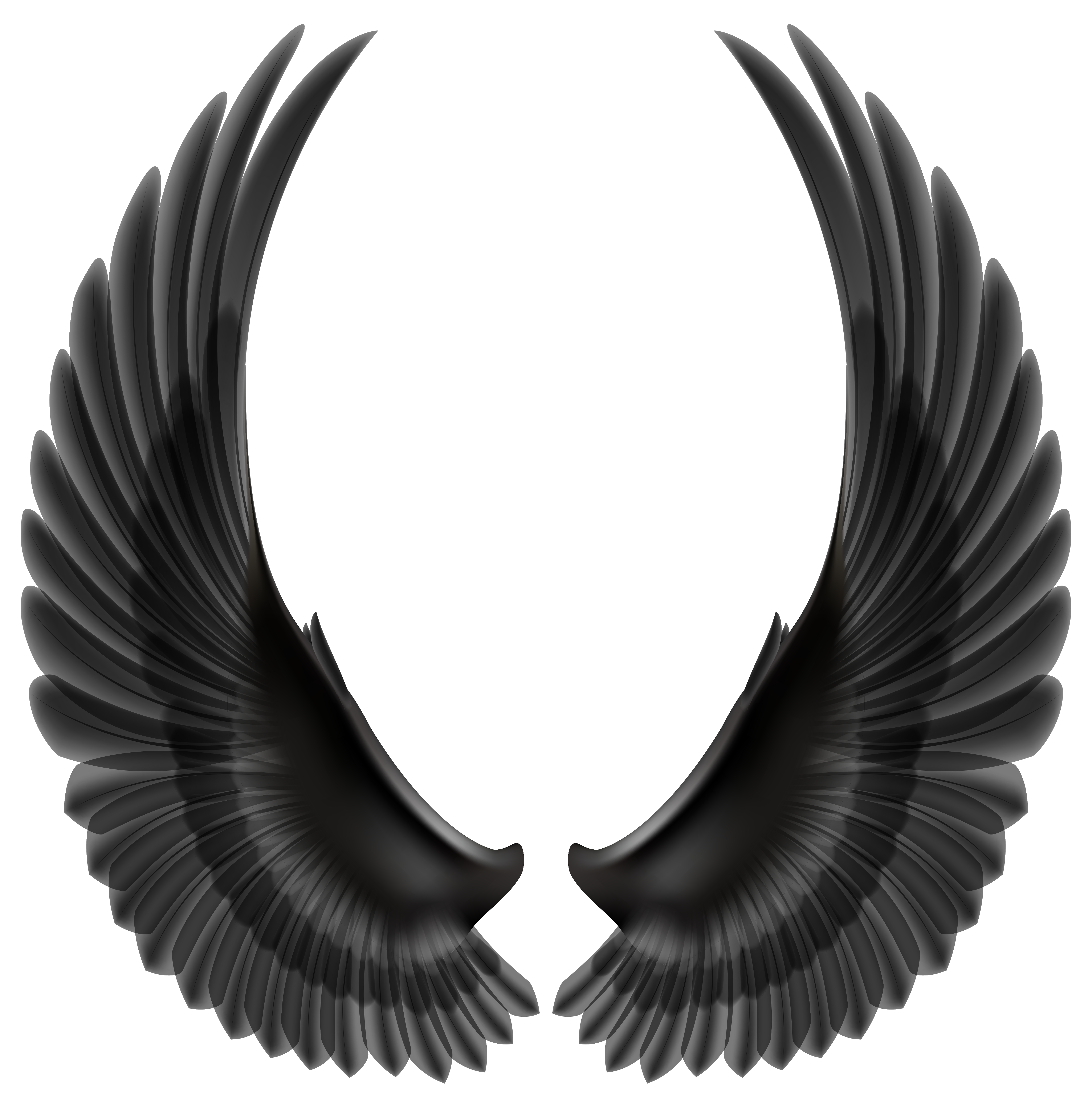Black wings clipart clipart library Black Wings PNG Clip Art Image | Gallery Yopriceville - High ... clipart library