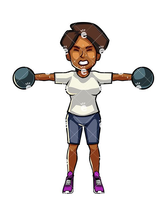 Black woman exercising clipart images library A Black Woman Exercising With Dumbbells | Exercise For the Body ... library