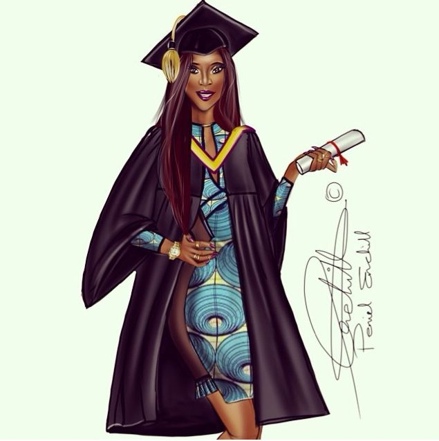Black womangraduate sitting on the world clipart picture free stock Graduation Day #BeautyAndBrains Peniel Enchill #fashion ... picture free stock
