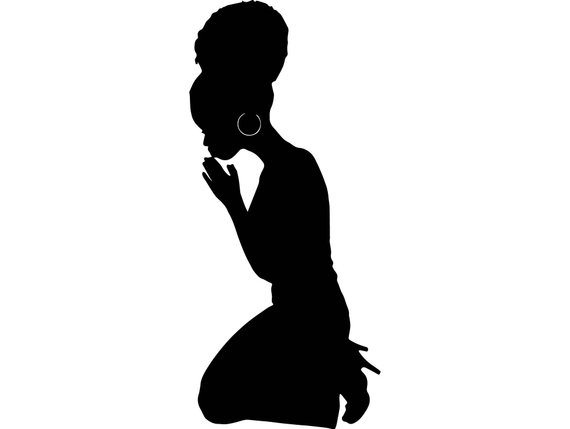 Silouttet clipart black woman kneeling in prayer image freeuse library Black Women Praying Nubian Princess Queen Afro Hair Beautiful ... image freeuse library