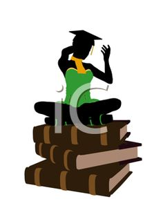 Black womangraduate sitting on the world clipart clip freeuse download 153 Best Graduation Clipart images in 2017 | Royalty free images ... clip freeuse download