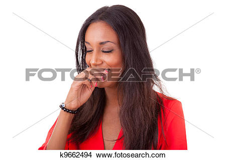 Black woman laughing clipart png free stock Stock Photo of Beautiful young black woman laughing k9662494 ... png free stock