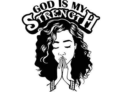 Black woman praying clipart jpg freeuse Amazon.com: EvelynDavid Woman Praying God Curly Hairstyle Stylish ... jpg freeuse