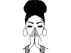 Black woman praying clipart svg black and white stock 8 Best woman praying images in 2015   Prayer, Prayers, Bible quotes svg black and white stock