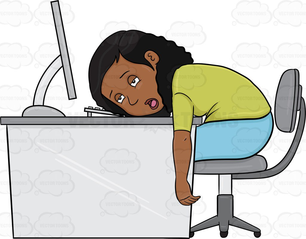 Woman tired clipart png Black Women Working Clipart - Free Clipart png