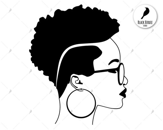 Black woman with afro and earrings clipart clipart freeuse stock Black woman svg, black woman clipart, earrings svg frame, shades svg ... clipart freeuse stock