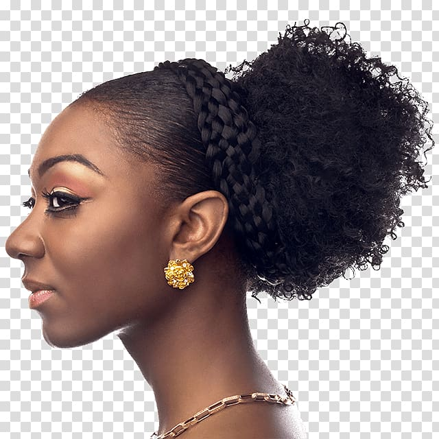 Black woman with afro and earrings clipart stock Women\'s black hair, Hairstyle Afro Cornrows Box braids French braid ... stock