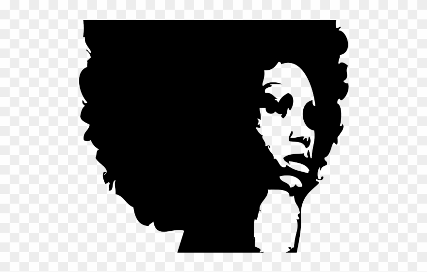 Black woman with afro clipart picture freeuse stock Braid Clipart Curly Afro - Black Woman Face Silhouette - Png ... picture freeuse stock