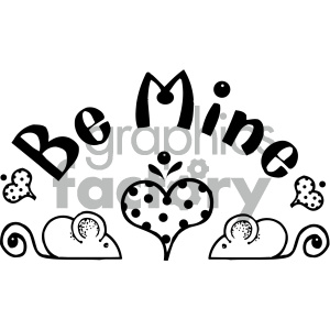 Black word clipart jpg library stock black and white be mine word art clipart. Royalty-free clipart # 405482 jpg library stock