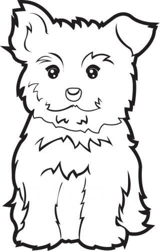 Black yorkie birthday clipart clip transparent download Free Yorkie Clipart Black And White, Download Free Clip Art, Free ... clip transparent download