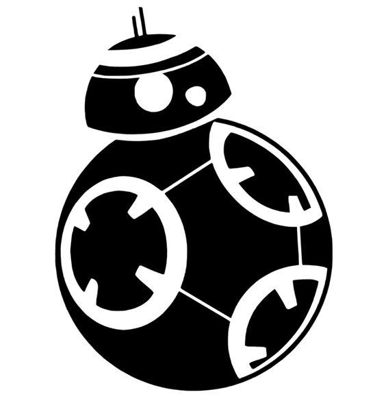 Blackberry logo clip art svg transparent BB-8 Star Wars Silhouette Portrait File | Crafty | Pinterest ... svg transparent