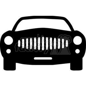 Blackcar clipart jpg freeuse library Front of a car Silhouettes clipart. Royalty-free clipart # 379751 jpg freeuse library