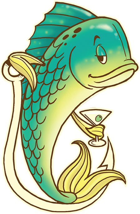 Fish in pan clipart svg library Off the Hook | svg library
