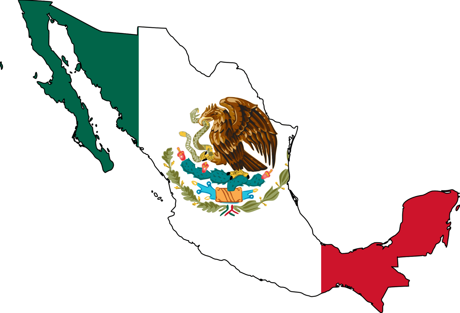 Mexico Flag 071511» Vector Clip Art - Free Clip Art Images clipart freeuse stock