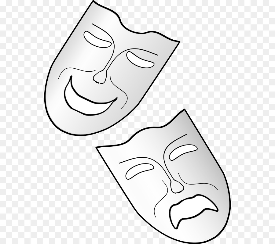 Blackline clipart mask jpg black and white download Black Line Background clipart - Drawing, Theatre, Mask, transparent ... jpg black and white download