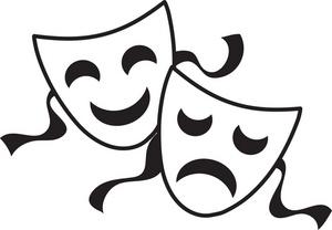 Leprechaun black and white. Free clipart comedy tragedy masks