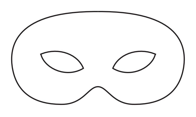 Blackline clipart mask graphic download Free Mardi Gras Mask Templates for Kids and Adults graphic download