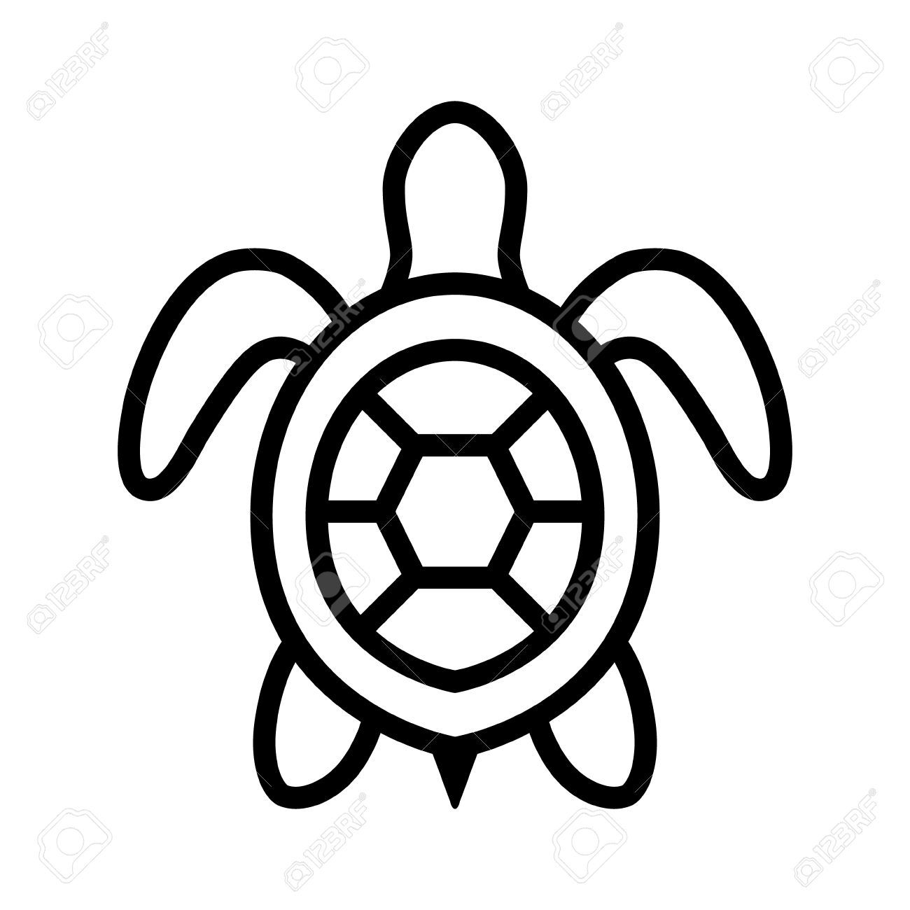 Blackline clipart turtle image black and white Turtle Clipart Black And White | Free download best Turtle Clipart ... image black and white