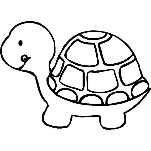 Blackline clipart turtle