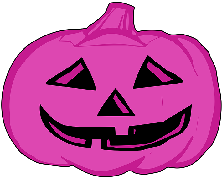 Gold and pink pumpkin clipart transparent library Happy Halloween Clipart transparent library
