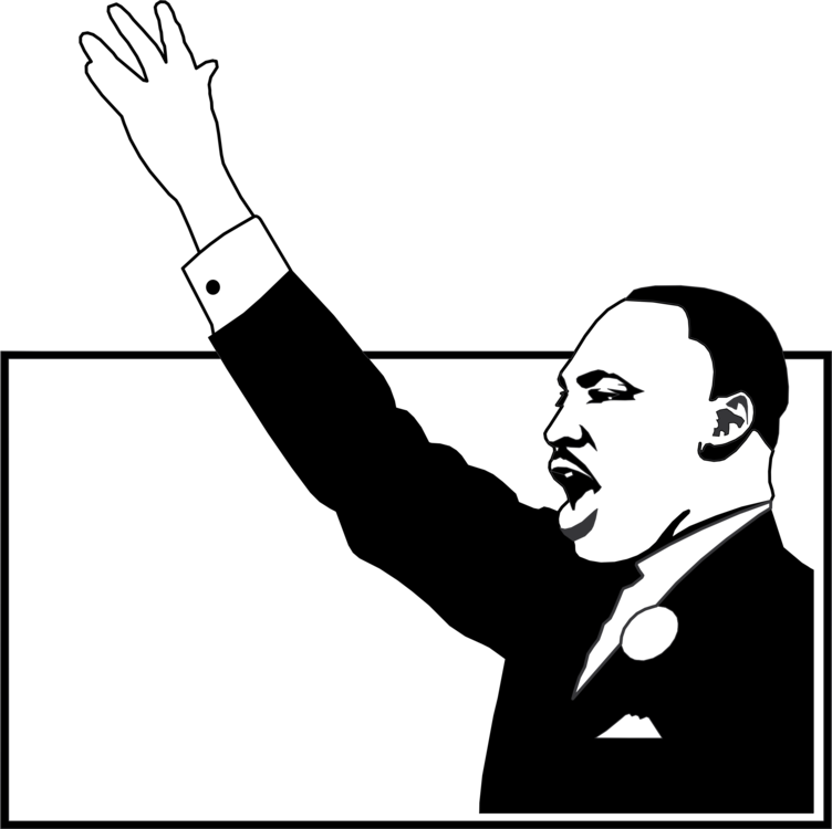 Martin luther king clipart black and white image stock Monochrome Photography,Text,Human Vector Clipart - Free to modify ... image stock