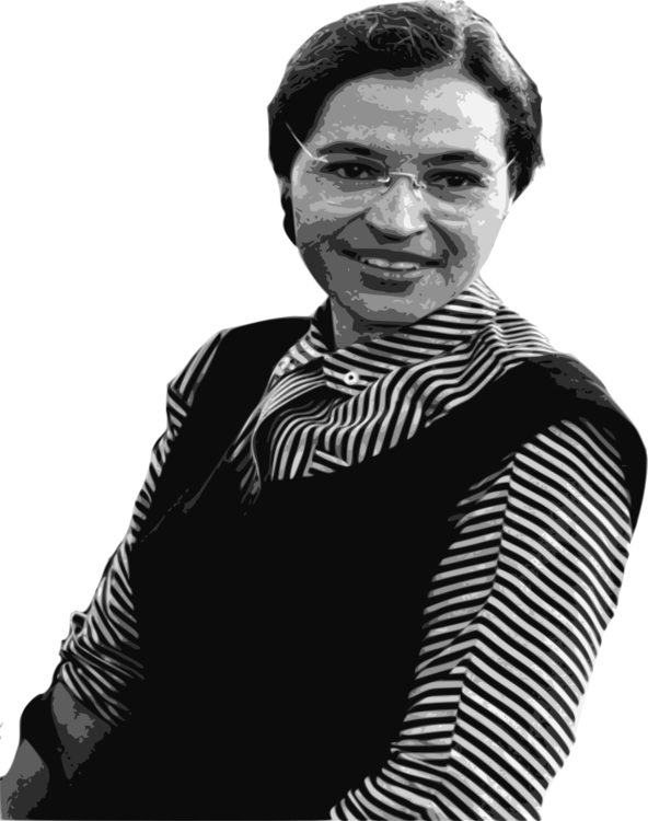 Blacks civil rights black and white clipart clip art free library Rosa Parks African-American Civil Rights Movement Montgomery bus ... clip art free library