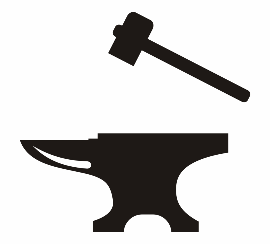 Blacksmith tools clipart image freeuse download Anvil Hammer Blacksmith Forge Tool - Hammer And Anvil Clipart, HD ... image freeuse download