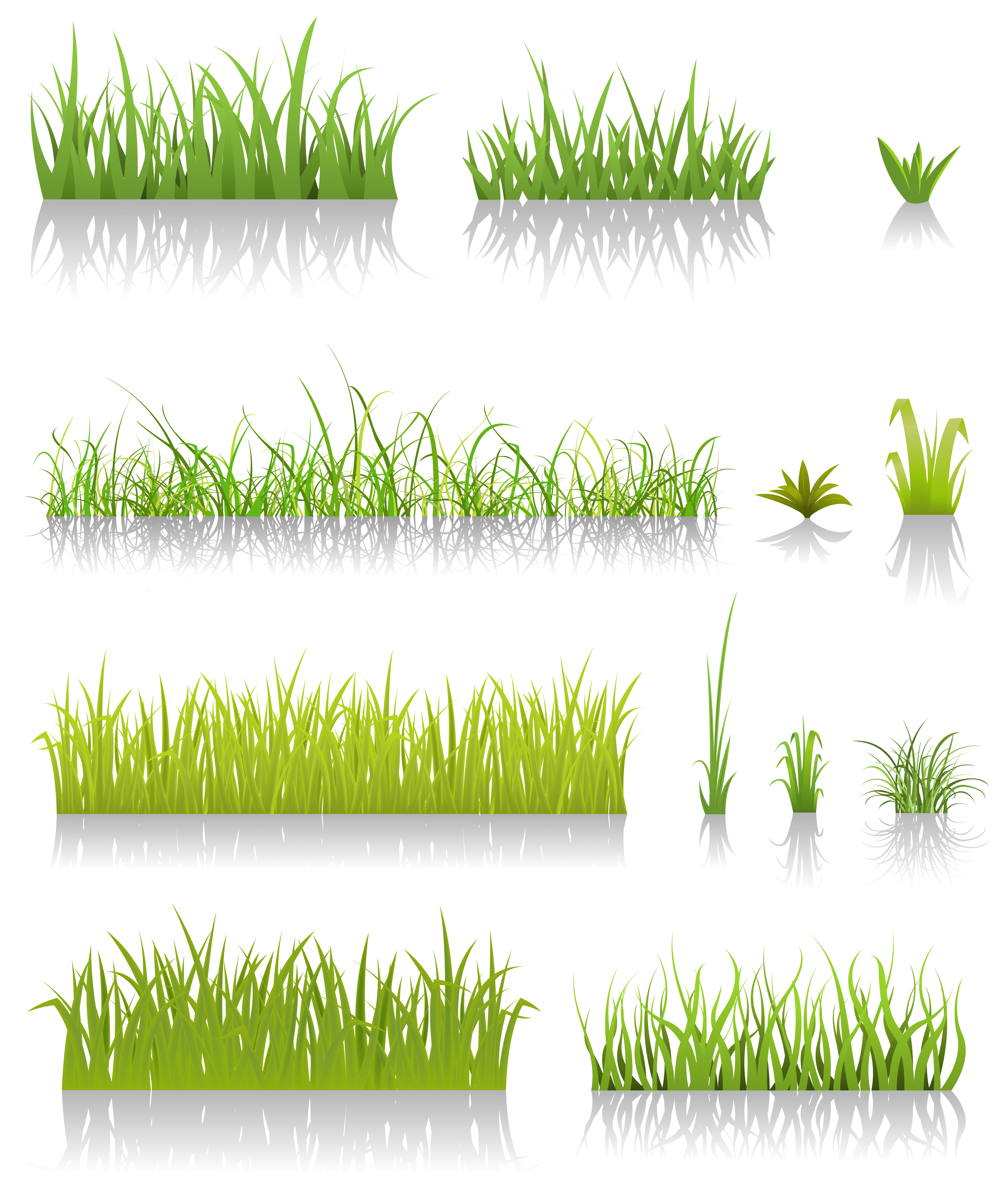 Blades of grass clipart black and white Grass Blades Free Vector Art - (22,211 Free Downloads) black and white