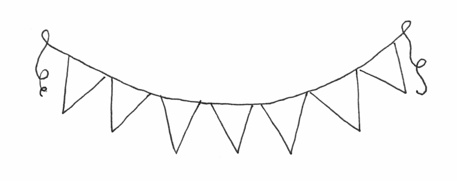 Blank banner clipart free black and white picture free download White Blank Banner Png Download - Bunting Clipart Black And White ... picture free download